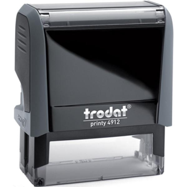 Σφραγίδα Trodat Printy 4912 Eco Αυτομελανώμενη Γκρι για κατασκευή σφραγίδας έως 5 γραμμών κειμένου.