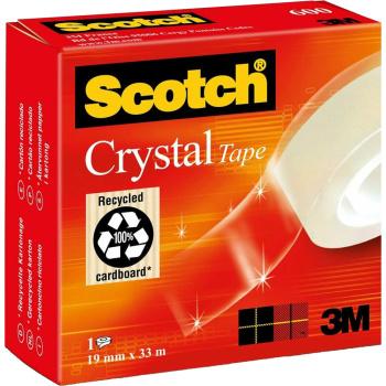 ΣΕΛΟΤΕΪΠ 3Μ SCOTCH 600 CRYSTAL ΔΙΑΦΑΝΟ 19mmx33m