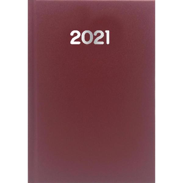ΗΜΕΡΟΛΟΓΙΟ 2021 ΗΜΕΡΗΣΙΟ SIMPLE 10x14cm Μπορντώ
