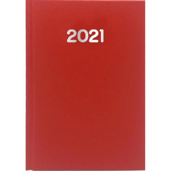Ημερολόγιο Ημερήσιο 2021 Simple 14x21 Κόκκινο