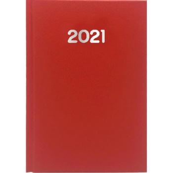Ημερολόγιο Ημερήσιο 2021 Simple 17x25 Κόκκινο