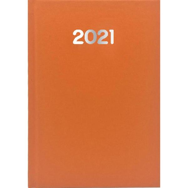 Ημερολόγιο Ημερήσιο 2021 Simple 17x25 Πορτοκαλί