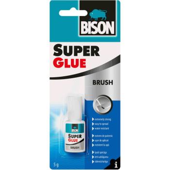 Κόλλα Στιγμής Super Glue Bison με Πινέλο