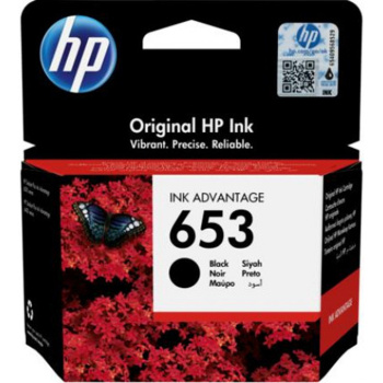 Μελάνι HP 653 BLACK INKJET CARTRIDGE 3YM75AE