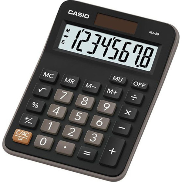 Casio MX-8B Αριθμομηχανή Μαύρη