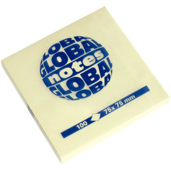 GLOBAL NOTES 100 ΦΥΛΛΑ ΚΙΤΡΙΝΑ ΑΥΤΟΚΟΛΛΗΤΑ 75X75mm