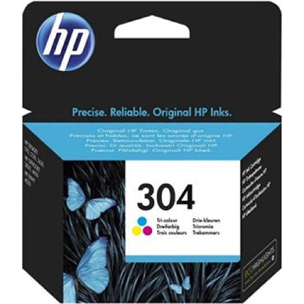 Hp 304 Tri-Colour Inkjet Catridge N9K05AE