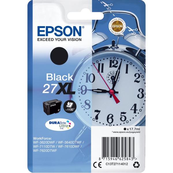 ΜΕΛΑΝΙ EPSON INKJET No 27XL BLACK C13T27114012