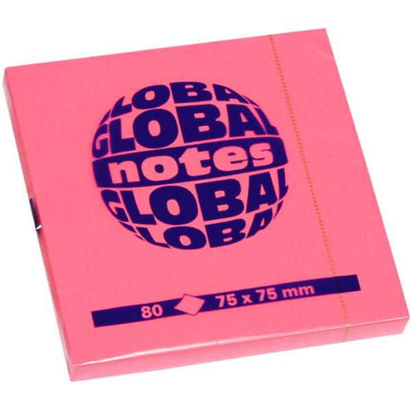 GLOBAL NOTES 80 ΦΥΛΛΑ ΡΟΖ ΑΥΤΟΚΟΛΛΗΤΑ 75X75mm