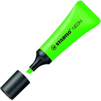 Μαρκαδόρος Υπογραμμίσης Stabilo Neon Πράσινος Μαρκαδόρος Υπογραμμίσης 72/33