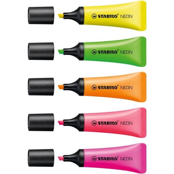 Μαρκαδόρος Υπογραμμίσης Stabilo Neon Ροζ Μαρκαδόρος Υπογραμμίσης 72/56