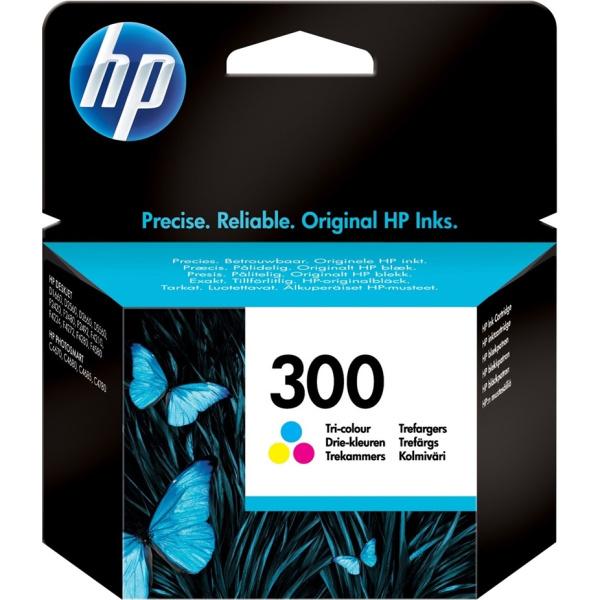 ΜΕΛΑΝΙ HP 300 TRI-COLOUR INKJET CARTRIDGE CC643EE