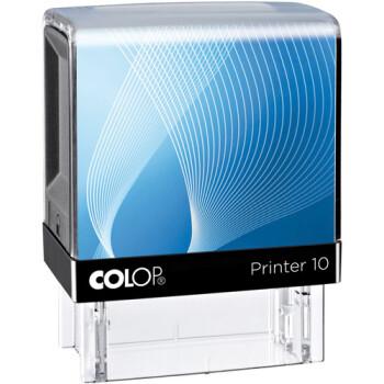Σφραγίδα Colop G7 New Printer 10 Αυτομελανώμενη Μαύρη με μπλε ετικέτα για κατασκευή σφραγίδας κειμένου έως 2 μικρών λέξεων.