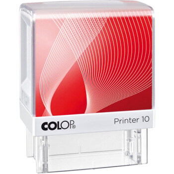 Σφραγίδα Colop G7 New Printer 10 Αυτομελανώμενη Λευκή με κόκκινη ετικέτα για κατασκευή σφραγίδας έως 6 γραμμών κειμένου.