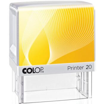 Σφραγίδα Colop G7 New Printer 20 Αυτομελανώμενη Λευκή με κίτρινη ετικέτα, για κατασκευή σφραγίδας έως 3ων γραμμών κειμένου.