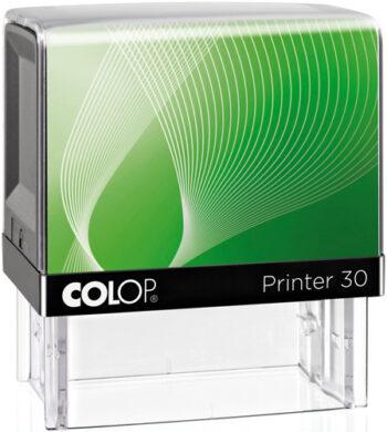 Σφραγίδα Colop G7 New Printer 30 Αυτομελανώμενη Μαύρη με πράσινη ετικέτα για κατασκευή σφραγίδας έως 5 γραμμών κειμένου.