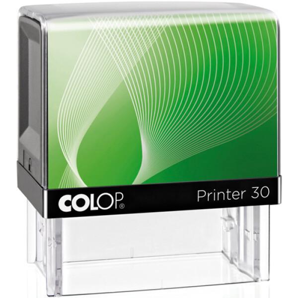 Σφραγίδα Colop G7 New Printer 30 Αυτομελανώμενη Μαύρη με πράσινη ετικέτα για κατασκευή σφραγίδας έως 4ων γραμμών κειμένου.
