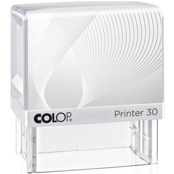 Σφραγίδα Colop G7 New Printer 30 Αυτομελανώμενη Λευκή με λευκή ετικέτα για κατασκευή σφραγίδας έως 4ων γραμμών κειμένου.