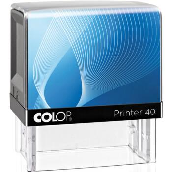 Σφραγίδα Colop G7 New Printer 40 Αυτομελανώμενη Μαύρη με μπλε ετικέτα για κατασκευή σφραγίδας έως 6 γραμμών κειμένου.