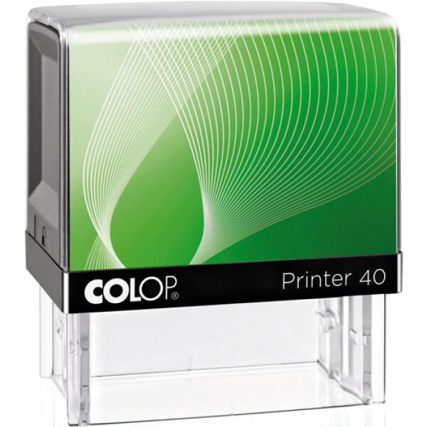 Σφραγίδα Colop G7 New Printer 40 Αυτομελανώμενη Μαύρη με πράσινη ετικέτα για κατασκευή σφραγίδας έως 6 γραμμών κειμένου.