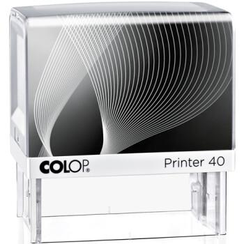 Σφραγίδα Colop G7 New Printer 40 Αυτομελανώμενη Λευκή με μαύρη ετικέτα για κατασκευή σφραγίδας έως 6 γραμμών κειμένου.