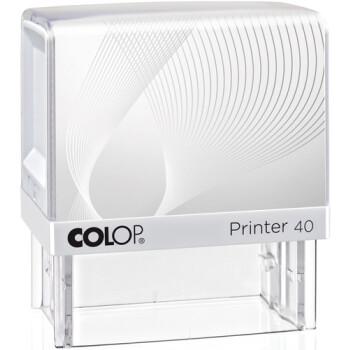 Σφραγίδα Colop G7 New Printer 40 Αυτομελανώμενη Λευκή με λευκή ετικέτα για κατασκευή σφραγίδας έως 6 γραμμών κειμένου.