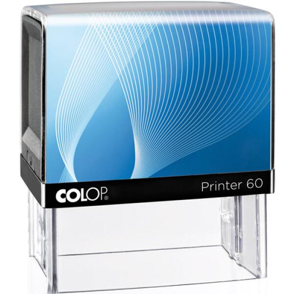 Σφραγίδα Μηχανικών Colop G7 New Printer 60 Αυτομελανώμενη Μαύρη με Μπλε ετικέτα, για κατασκευή σφραγίδας έως 8 γραμμών κειμένου.