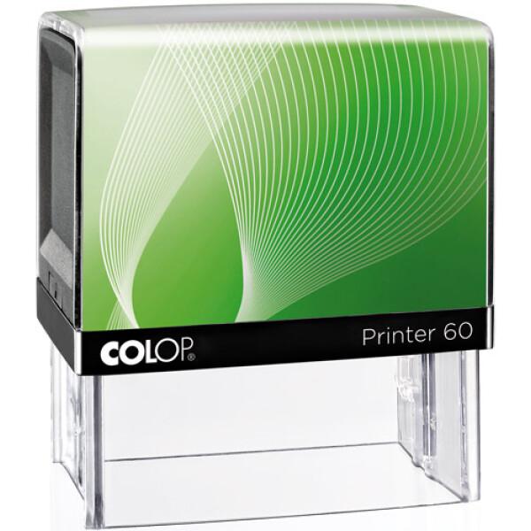 Σφραγίδα Μηχανικών Colop G7 New Printer 60 Αυτομελανώμενη Λευκή με Πράσινη ετικέτα, για κατασκευή σφραγίδας έως 8 γραμμών κειμένου.