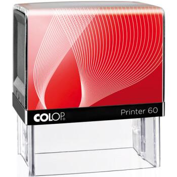 Σφραγίδα Μηχανικών Colop G7 New Printer 60 Αυτομελανώμενη Μαύρη με Κόκκινη ετικέτα, για κατασκευή σφραγίδας έως 8 γραμμών κειμένου.
