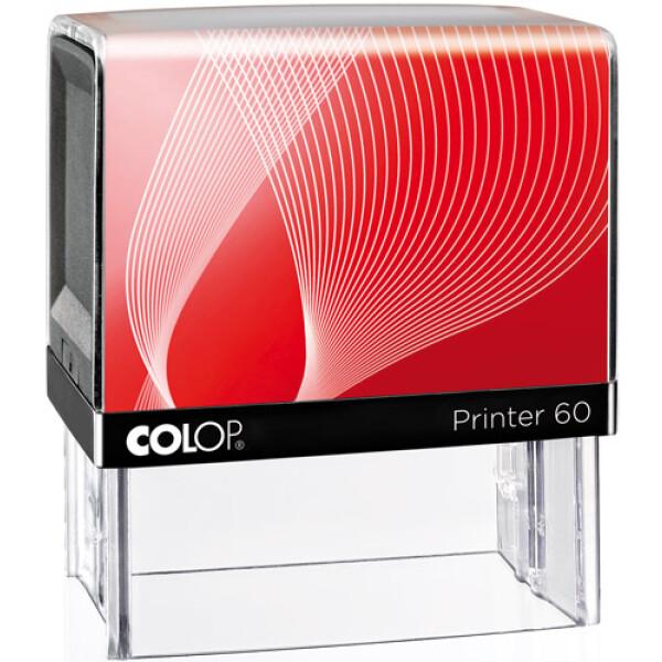 Σφραγίδα Μηχανικών Colop G7 New Printer 60 Αυτομελανώμενη Μαύρη με Κόκκινη ετικέτα, για κατασκευή σφραγίδας έως 7 γραμμών κειμένου.