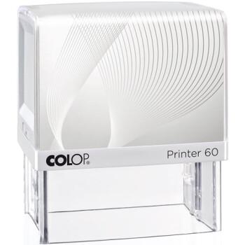 Σφραγίδα Μηχανικών Colop G7 New Printer 60 Αυτομελανώμενη Λευκή με Λευκή ετικέτα, για κατασκευή σφραγίδας έως 8 γραμμών κειμένου.
