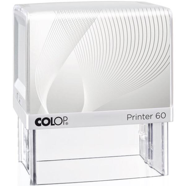 Σφραγίδα Colop G7 New Printer 60 Αυτομελανώμενη Λευκή με λευκή ετικέτα για κατασκευή σφραγίδας έως 10 γραμμών κειμένου.