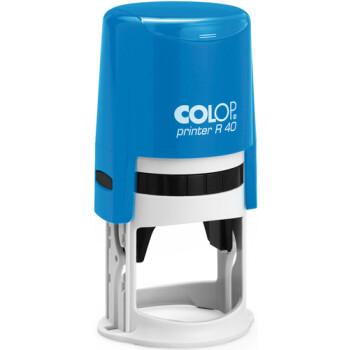 Σφραγίδα Colop Printer R40 Στρογγυλή Μπλε για κατασκευή στρογγυλής σφραγίδας με διάμετρο 4.0cm.