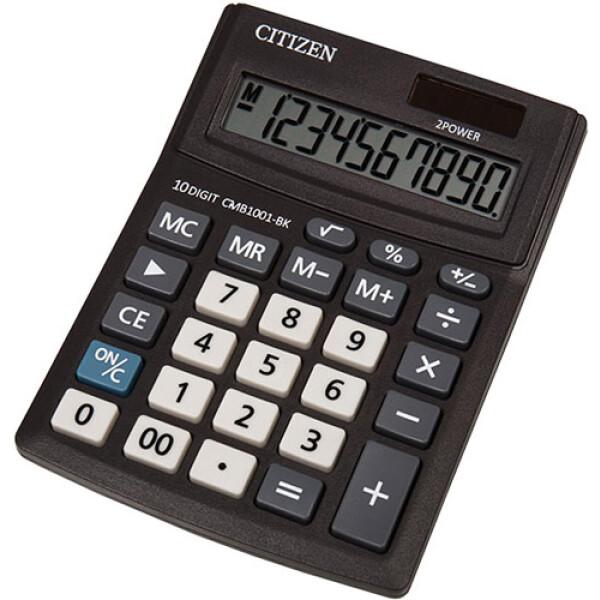Αριθμομηχανή Γραφείου Citizen 10 ψηφίων CMB1001-BK με μεγάλη οθόνη για υπολογισμούς με μεγάλη ακρίβεια διαστάσεων 13,7cm x 10,2cm.