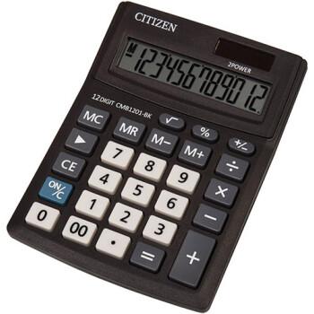 Αριθμομηχανή Γραφείου Citizen 12 ψηφίων CMB1201-BK με μεγάλη οθόνη για υπολογισμούς με μεγάλη ακρίβεια διαστάσεων 13,7cm x 10,2cm.