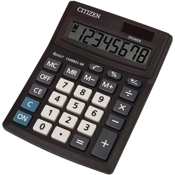 Αριθμομηχανή Γραφείου Citizen 8 ψηφίων CMB801-BK με μεγάλη οθόνη για υπολογισμούς με μεγάλη ακρίβεια διαστάσεων 13,7cm x 10,2cm.