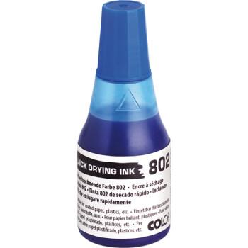 Colop 802 Μελάνι Ανεξίτηλο Σφραγίδας Μπλε σε μπουκαλάκι 25ml για επιφάνειες που το απλό μελάνι δεν στεγνώνει.