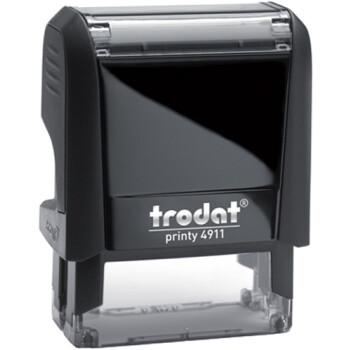 Σφραγίδα Trodat Printy 4911 Eco Αυτομελανώμενη Μαύρη για κατασκευή σφραγίδας έως 3 γραμμών κειμένου.
