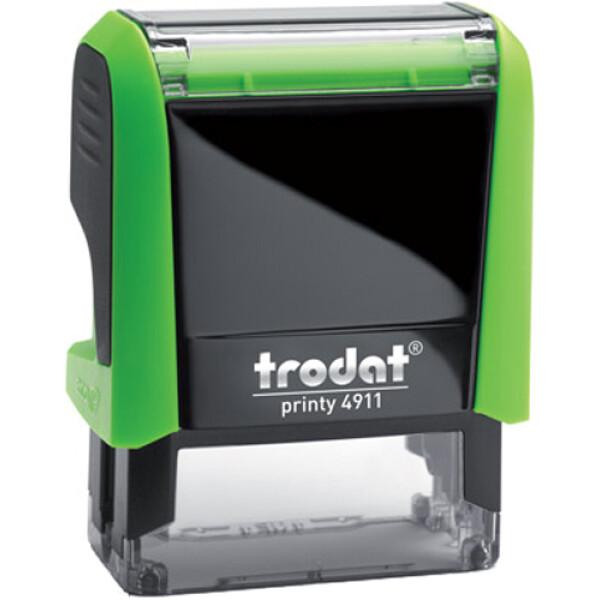 Σφραγίδα Trodat Printy 4911 Eco Αυτομελανώμενη Πράσινη για κατασκευή σφραγίδας έως 3 γραμμών κειμένου.