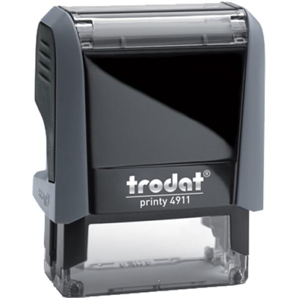 Σφραγίδα Trodat Printy 4911 Eco Αυτομελανώμενη Γκρι για κατασκευή σφραγίδας έως 3 γραμμών κειμένου.