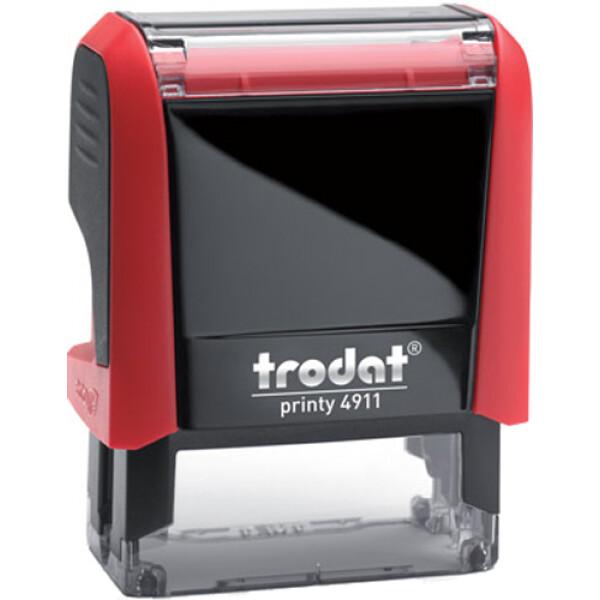 Σφραγίδα Trodat Printy 4911 Eco Αυτομελανώμενη Κόκκινη για κατασκευή σφραγίδας έως 3 γραμμών κειμένου.
