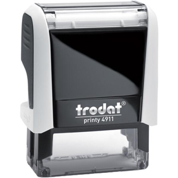 Σφραγίδα Trodat Printy 4911 Eco Αυτομελανώμενη Λευκή για κατασκευή σφραγίδας έως 3 γραμμών κειμένου.