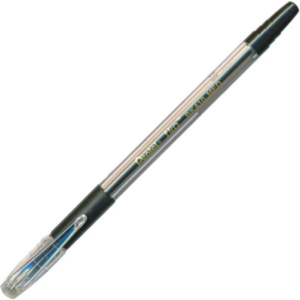 Στυλό διαρκείας Μαύρο Pentel TKO BK410 με Grip για εύκολο κράτημα και απαλή γραφή πάχους 1mm.