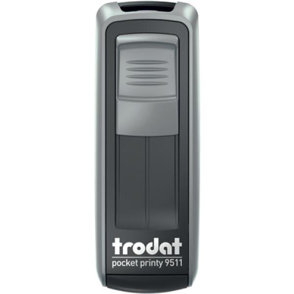 Σφραγίδα Trodat Pocket Printy 9511 Τσέπης Ασημί για κατασκευή σφραγίδας έως 3ων γραμμών κειμένου.