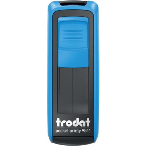 Σφραγίδα Trodat Pocket Printy 9511 Τσέπης Μπλε για κατασκευή σφραγίδας έως 3ων γραμμών κειμένου.