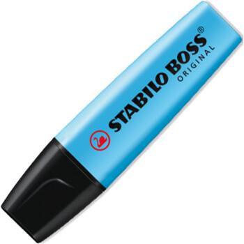 Μαρκαδόρος Υπογράμμισης Stabilo Boss Μπλε που μπορεί να υπογραμμίσει σε όλα τα είδη χαρτιού με έντονο Μπλε χρώμα. Yπογραμμιστής με σφηνοειδής μύτη 2 έως 5mm.