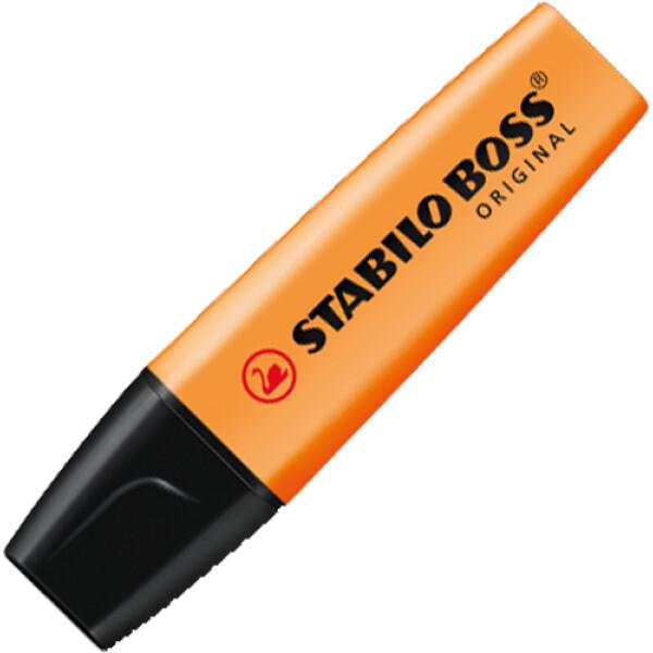 Μαρκαδόρος Υπογράμμισης Stabilo Boss Πορτοκαλί που μπορεί να υπογραμμίσει σε όλα τα είδη χαρτιού με έντονο Πορτοκαλί χρώμα. Yπογραμμιστής με σφηνοειδής μύτη 2 έως 5mm.