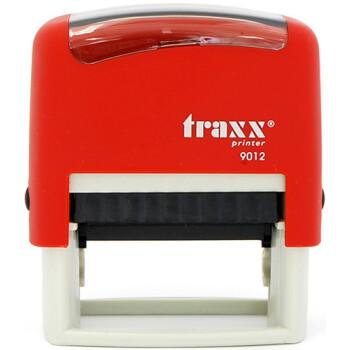 Σφραγίδα Traxx Printer 9012 Αυτομελανώμενη Κόκκινη για κατασκευή σφραγίδας έως 5 γραμμών κειμένου.