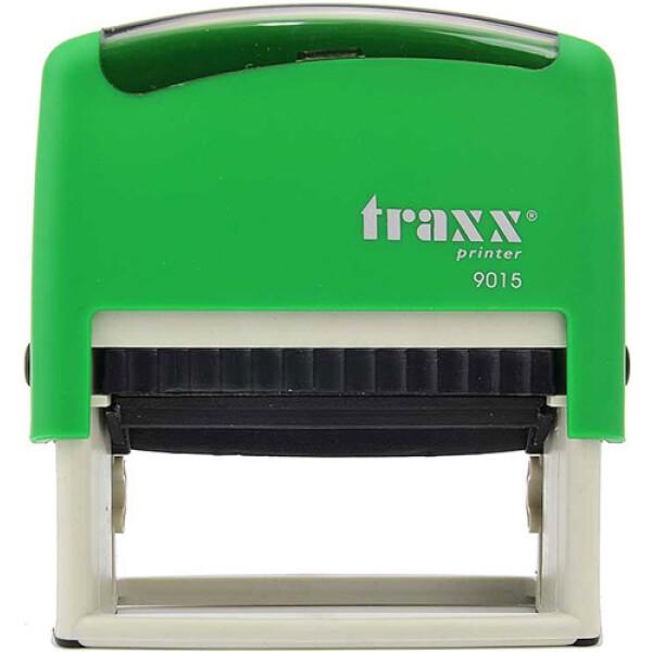 Σφραγίδα Traxx Printer 9015 Αυτομελανώμενη Πράσινη για κατασκευή σφραγίδας έως 8 γραμμών κειμένου.