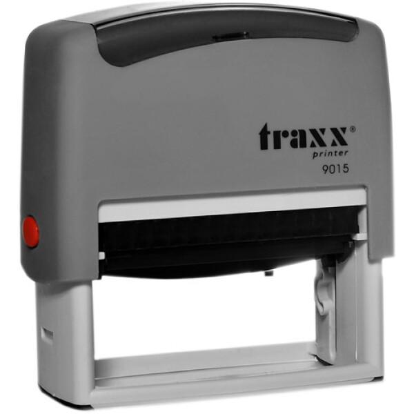 Σφραγίδα Traxx Printer 9015 Αυτομελανώμενη Γκρι για κατασκευή σφραγίδας έως 8 γραμμών κειμένου.